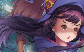 Картинка girl, anime, face, asian, witch, japanese, oriental, asiatic, bishojo, broom, shounen, mahou, Little Witch Academia