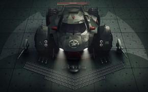 Картинка оружие, автомобиль, batmobile concept