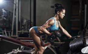 Картинка brunette, workout, fitness, gym