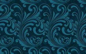 Картинка Blue, Abstract, design, pattern, Wallpaper, узор-1
