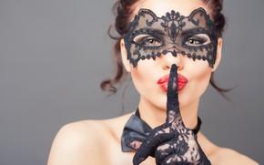 Картинка silence, mask, make up