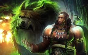 Картинка игра, арт, WOW, фрагмент, Durotan, Durotan from Warcraft, dzikawa