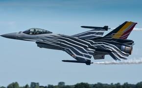Картинка тюнинг, самолёт, боевой, General Dynamics F-16AM Fighting Falcon