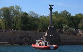 Картинка город, герой, памятник, Севастополь, затопленным, кораблям