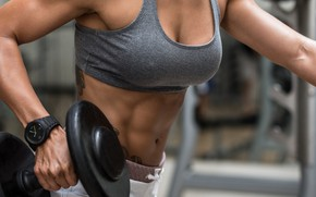 Картинка woman, workout, fitness, abs