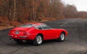 Картинка Красный, Цвет, Авто, Осень, Ретро, Машина, Классика, Автомобиль, 365, Спорткар, Gran Turismo, Daytona, Ferrari 365, …