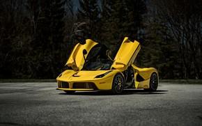 Картинка Ferrari, Scuderia, Yellow, Italia, LaFerrari