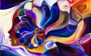 Картинка colors, pattern, Head
