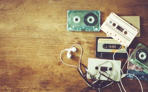 Картинка ретро, музыка, music, наушники, retro, headphones, cassettes, косеты