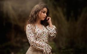Картинка блузка, губки, локоны, Carmen Gabaldon