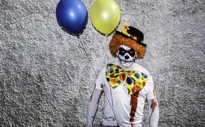 Картинка шары, человек, маска