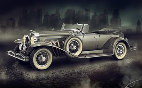 Картинка город, автомобиль, 1929 Duesenberg Model J Dual Cowl Phaeton