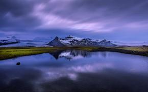 Обои Исландия, отражение, озеро, Iceland
