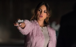 Обои Baby Driver, пистолет, Eiza Gonzalez, Малыш на драйве