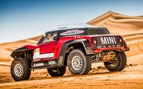 Картинка Песок, Авто, Mini, Спорт, Пустыня, Rally, Dakar, Дакар, Ралли, Дюна, Buggy, Багги, X-Raid Team, MINI …