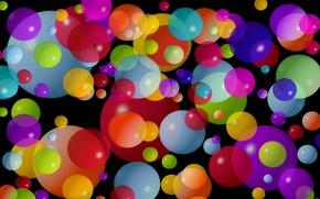 Обои шарик, краски, узор, круг