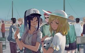 Картинка anime, dog, asian, oriental, asiatic, bishojo, inu, japanse, New York Yankees, Love Live! Sunshine!!