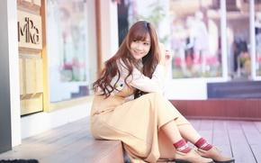 Картинка улыбка, восточная девушка, Brode十三