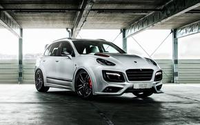 Картинка белый, Porsche, порше, Cayenne, кайен, TechArt