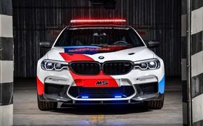 Обои мигалки, BMW M5, MotoGP, Safety Car