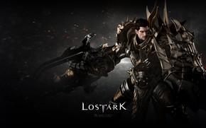 Картинка фон, игра, воин, искры, Lost Ark