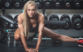 Обои workout, look, model, blonde, fitness