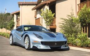 Картинка Ferrari, Carbon, Blue, F12, TDF