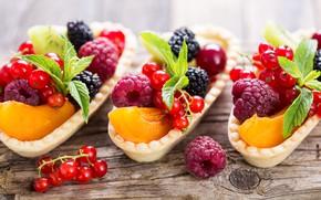 Обои ягоды, малина, размытие, персик, смородина, ежевика, вкусно