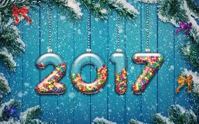 Картинка new year, happy, 2017, holiday decoration