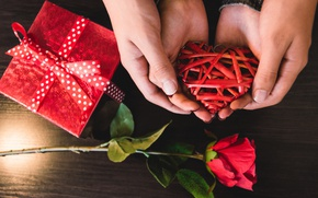 Картинка роза, red, love, rose, heart, romantic, valentine's day, gift