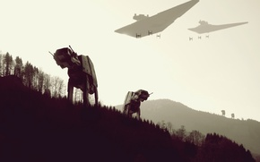 Обои леса, Star Wars, работы, звездные войны, Y-WING