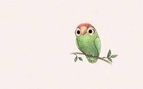 Картинка арт, детская, попугайчик, Sydney Hanson