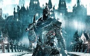Обои Dark Souls III, armor, ken, sword, helmet, blade, Dark Souls 3, Dark Souls, game, warrior