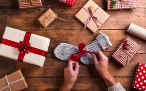 Картинка рождество, подарки, упаковка, подготовка