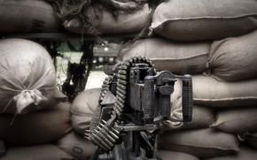 Картинка оружие, фон, пулемёт