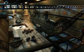Картинка ангар, Dock, оборудование