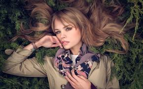 Картинка взгляд, лицо, волосы, портрет, руки, Анастасия Щеглова, Katie Melman