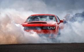 Картинка car, Dodge, red, Dodge Challenger SRT Demon, Challenger SRT Demon