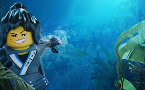 Картинка Lego, animated film, animated movie, Nya, The Lego Ninjago