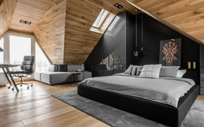 Обои комната, интерьер, спальня, дизайн