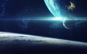 Обои galaxy, sci fi, planet