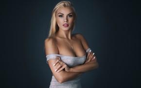 Картинка девушка, фон, блондинка, Tomash Masojc, Greta