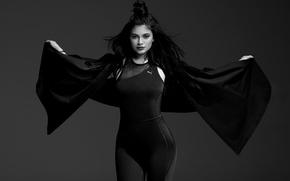 Картинка модель, черно-белое, Kylie Jenner