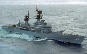 Картинка крейсер, ракетный, uss fox