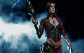 Обои оружие, рендеринг, Anna Van Helsing, Vampire Hunter, фон, охотница