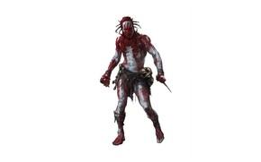 Картинка кровь, тело, нож, мужчина
