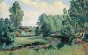 Картинка пейзаж, картина, Арман Гийомен, Armand Guillaumin, Жуи-ан-Жоза