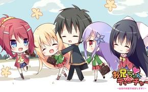 Картинка kawaii, girl, love, anime, chibi, manga, deredere, bishojo, moe, seifuku, small, comedy, japonese