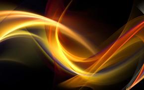 Обои узор, краски, объем, фрактал, линии