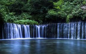 Картинка вода, река, камни, водопад, поток